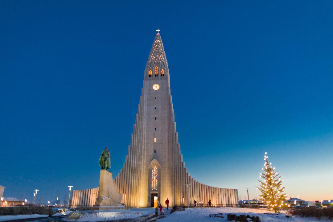 La Chiesa di Hallgrímur, Reykjavík, Islanda