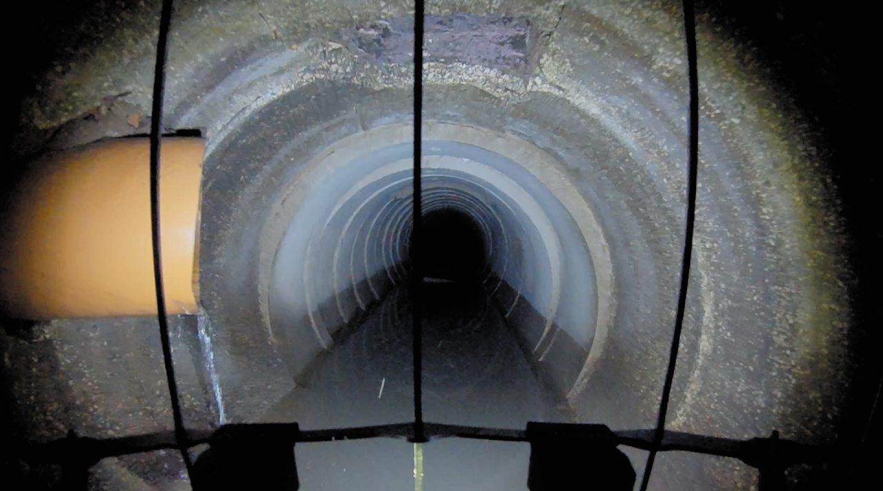 Un tunnel visto con gli occhi dello Skycopter