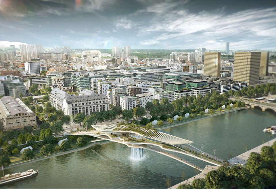 Parigi: uno splendido ponte (con cascata) sopra la Senna