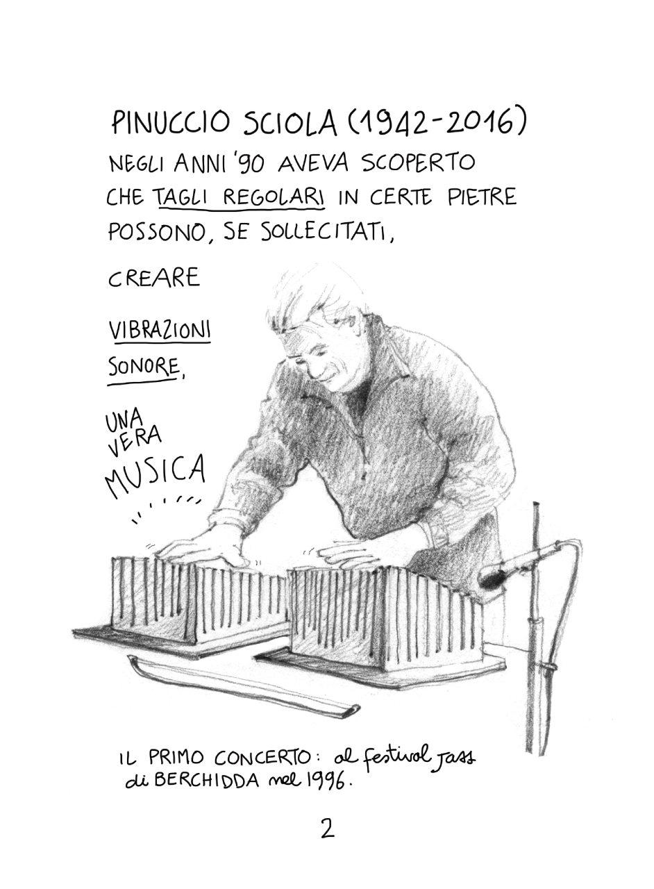 Sardegna, il Giardino sonoro dove sentire il canto della pietra: un racconto per immagini della nostra urban sketcher