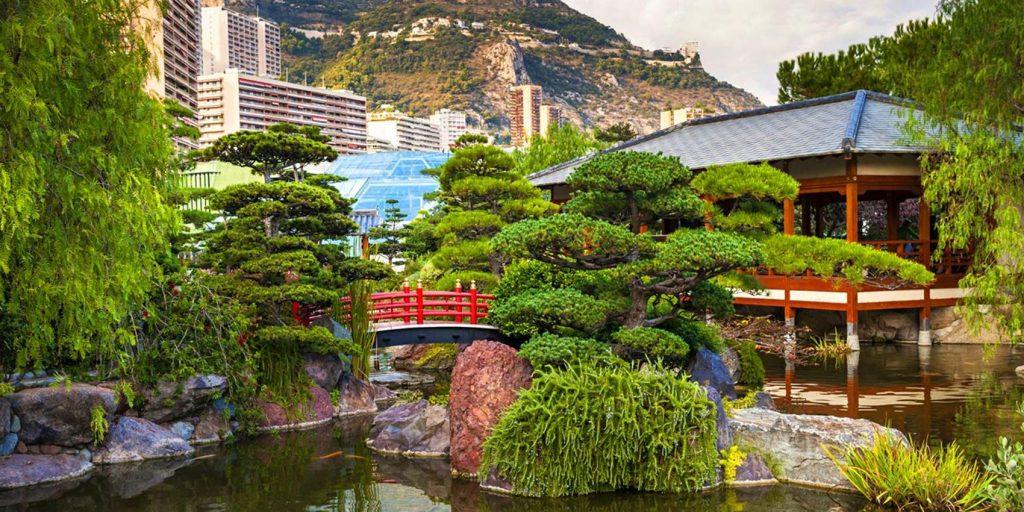 Vista del Giardino Giapponese a Monaco