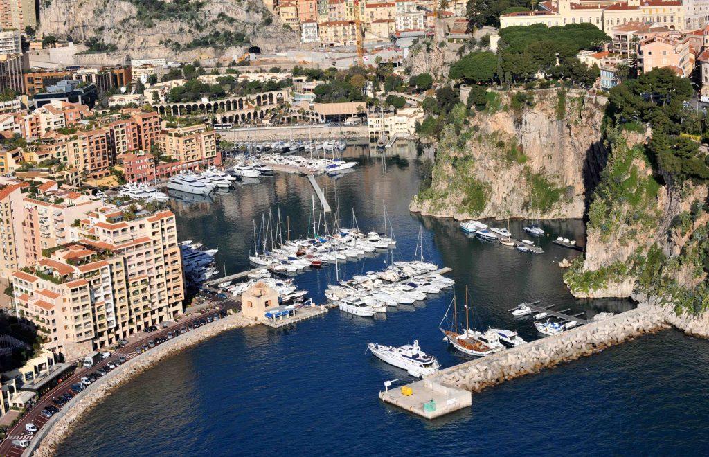 Il porto di Fontvieille, uno dei quartieri di Monaco