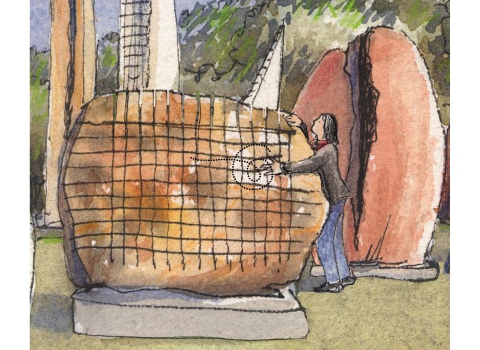storia del giardino sonoro in sardegna raccontata dalle illustrazioni di Simo Capecchi