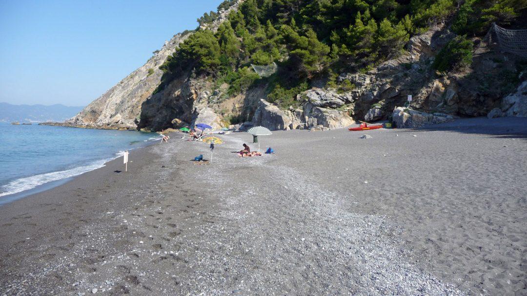 Spiaggia di Punta Corvo ad Ameglia, La Spezia