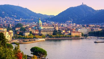 Vista di Como, tappa dell'itinerario letterario Lake Como Poetry Way