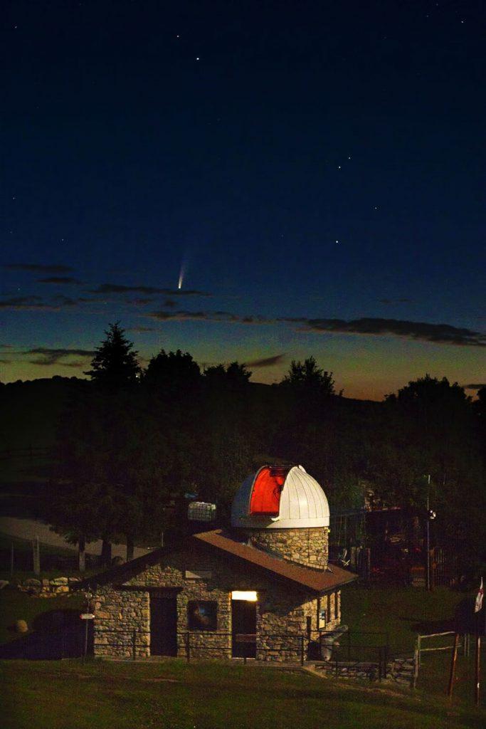 Cometa Neowise dall'Osservatorio di Sormano