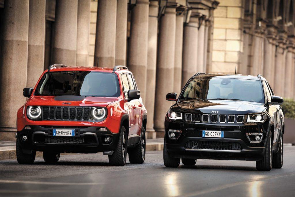 Le nuove Jeep Renegade 4xe e Compass 4xe ibride