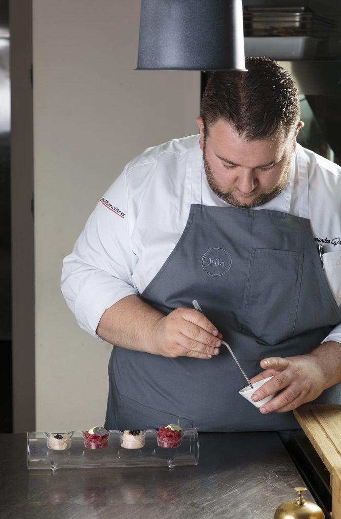 Chef Alessandro Parisi ristorante Filo a Lezzeno Hotel Filario Lago di Como