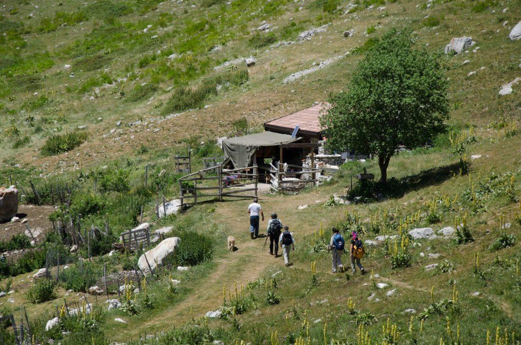 La capanna del pastore Americo alle Caparnie