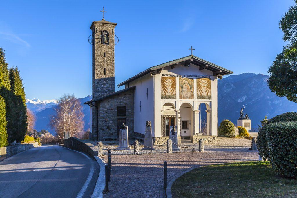 Santuario della Madonna del Ghisallo protettrice dei ciclisti