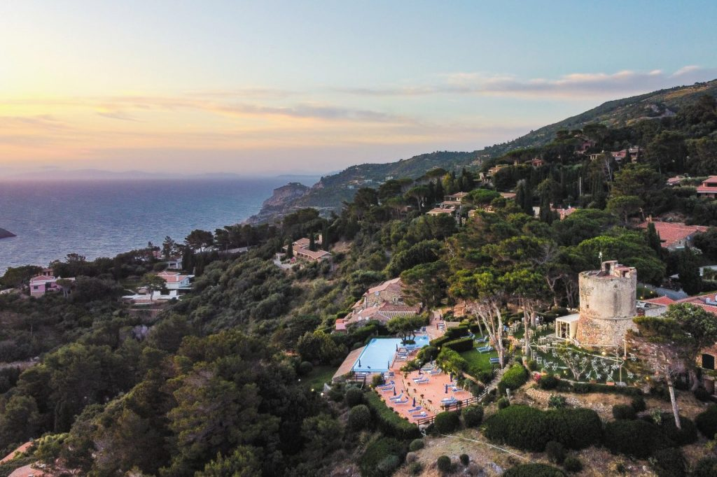 Panorama dall'Hotel Torre di Cala Piccola.