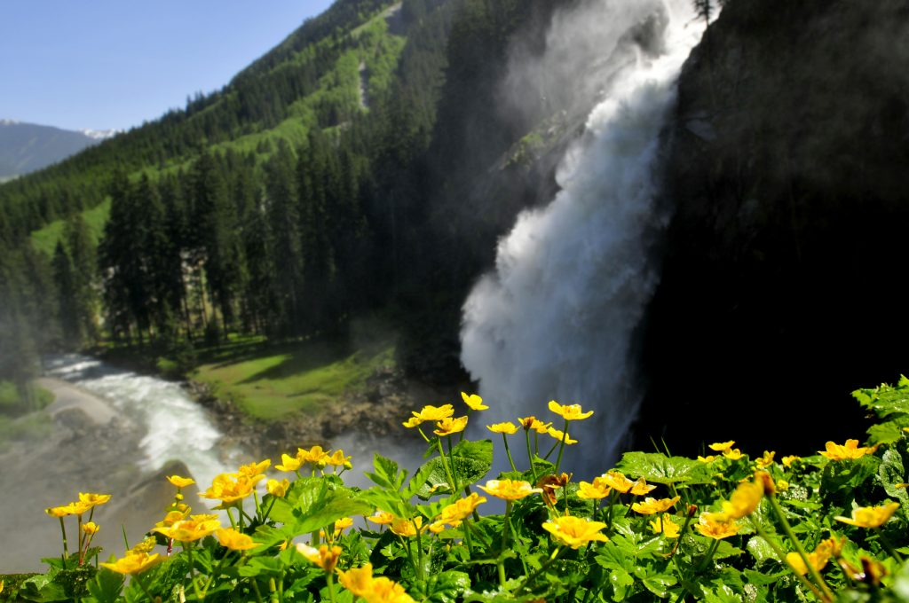 Le cascate Krimml nel parco nazionale degli Alti Tauri (foto Ente turismo Salisburghese).