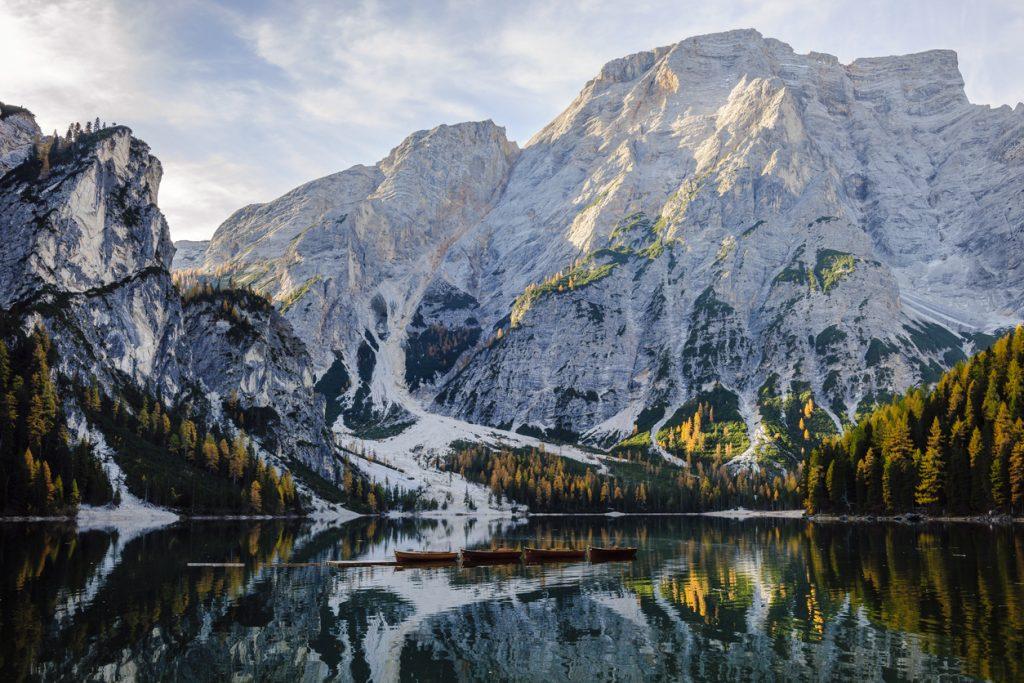 lago di Braies autunno