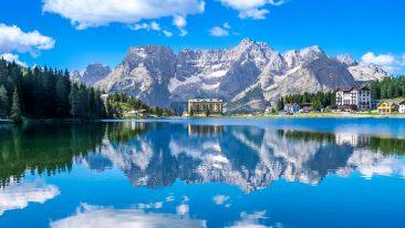 lago di Misurina, Auronzo di Cadore: il lago e le Dolomiti venete