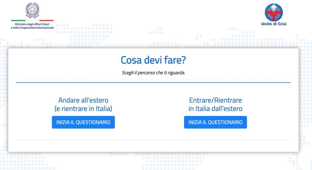 coronavirus questionario farnesina dove si può viaggiare e cosa fare al rientro in Italia