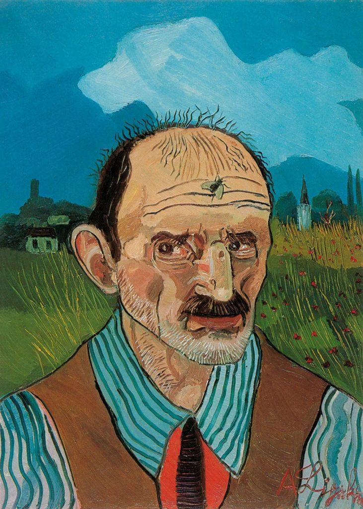 05.Antonio Ligabue, Autoritratto con mosca, 1960, olio su tela (cm 70x50)