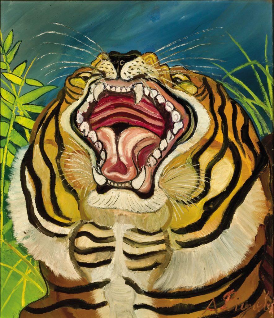 Mostra Antonio Ligabue Testa di tigre