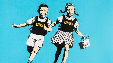 Banksy, Jack &Jill, 2005, serigrafia su carta, collezione privata (part.)