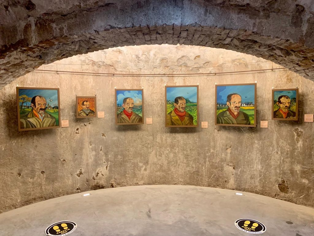 Palazzo Tarasconi a Parma sala ghiaccia autoritratti Antonio Ligabue in mostra