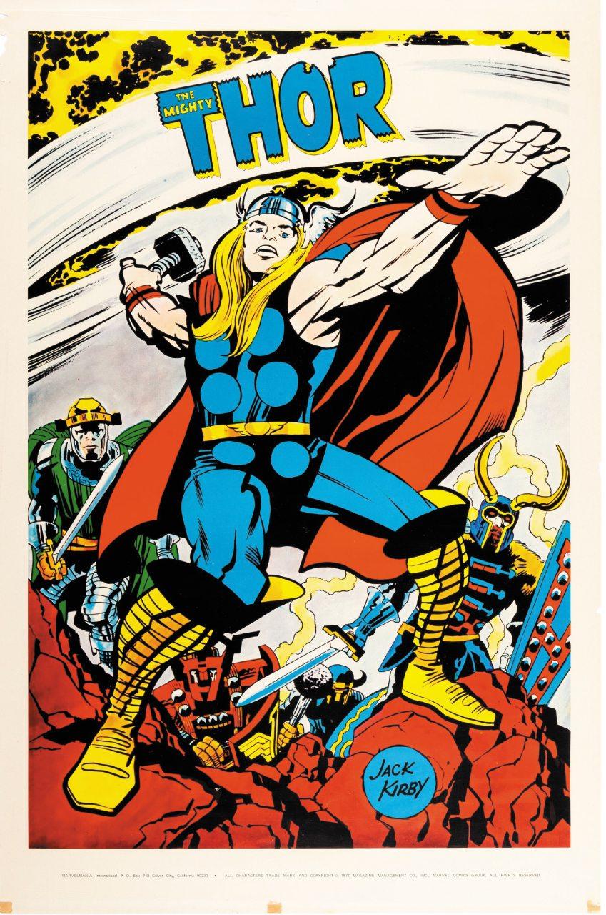 Thor in un poster americano del 1970