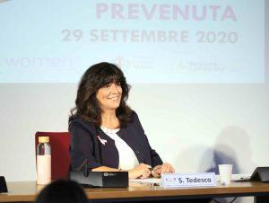 Il direttore di Dove, Simona Tedesco, all'appuntamento pubblico a Palazzo Marino con Io sono Prevenuta, per Nastro Rosa