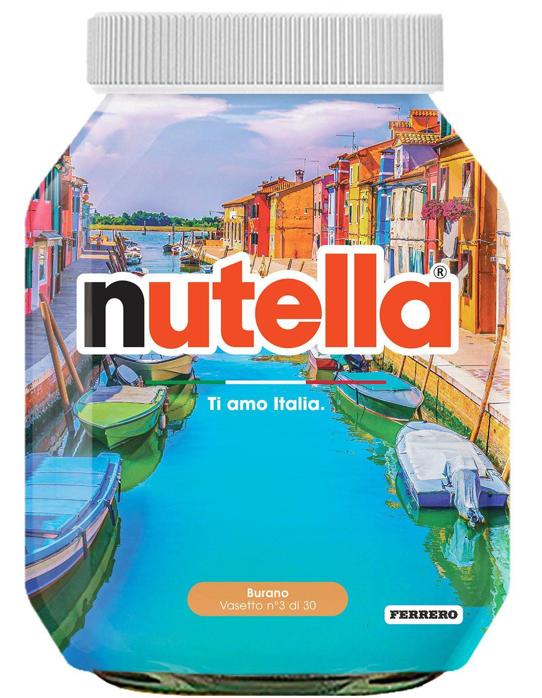 """""""Ti amo Italia"""": 30 panorami sui barattoli Nutella per promuovere i viaggi (con le nostre dritte)"""