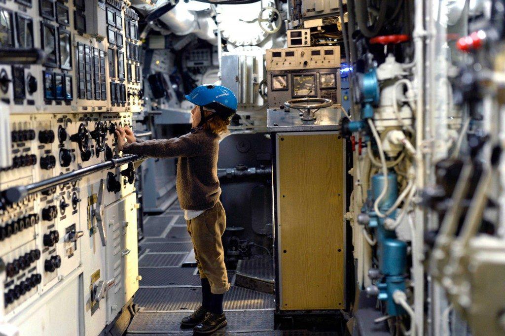 Il Museo della Scienza di Milano, per il weekend del 26-27 settembre, organizza visite guidate per ragazzi alla sezione Trasporti. E si può ammirare il sottomarino Toti (ph. Enrico De Santis)