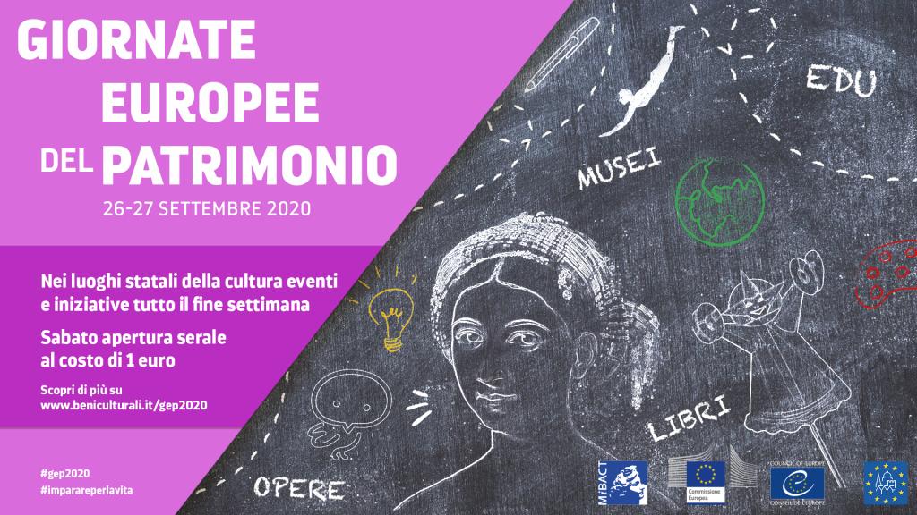 Le Giornate Europee del Patrimonio 2020 si svolgono in Italia dal 26 al 27 settembre 2020