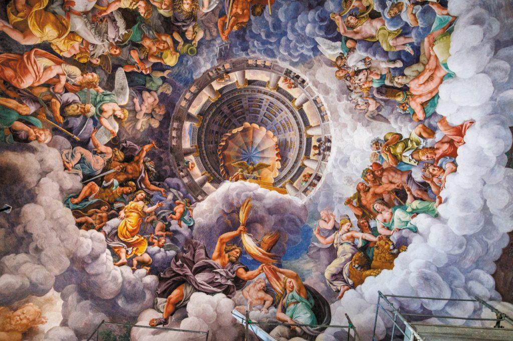 Camera dei Giganti, affrescata da Giulio Romano, di Palazzo Te.