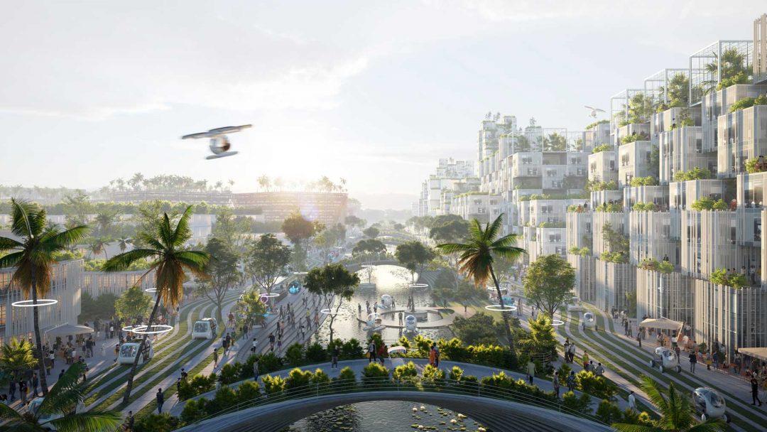 In Malesia, BiodiverCity: la città del futuro è su isole artificiali a forma di fiore