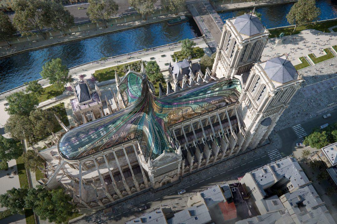 Un tetto di vetro colorato: l'idea per il restauro della cattedrale di Notre-Dame a Parigi