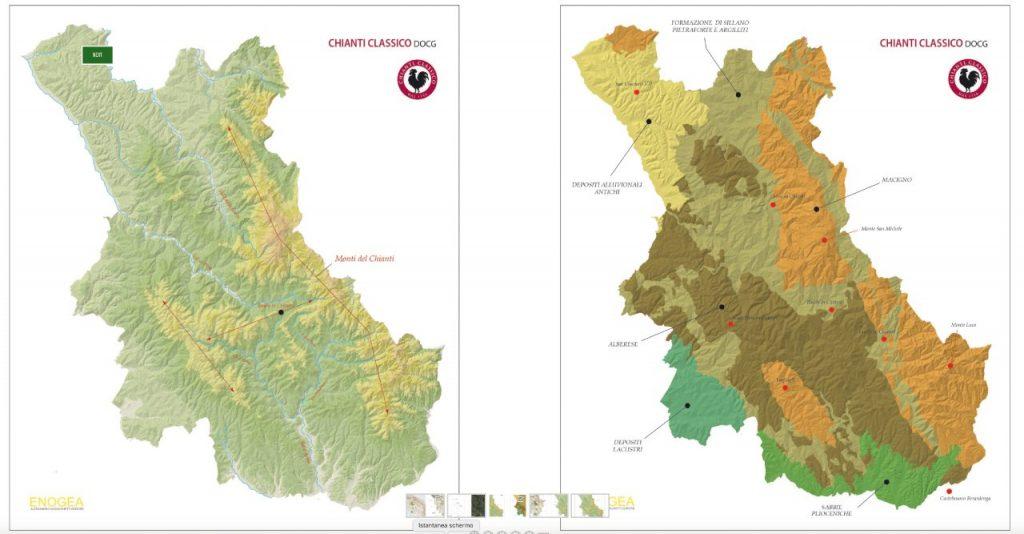 Il territorio del Chianti Classico tra le province di Firenze e di Siena (ph. Consorzio Vino Chianti Classico)
