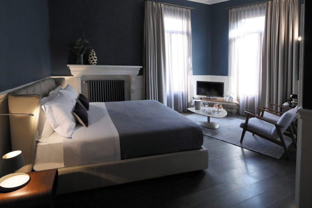 Una stanza dell'Hotel Belludi a Padova