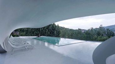 Monte Tai, Cina: lo spettacolare centro visitatori a forma di nuvola