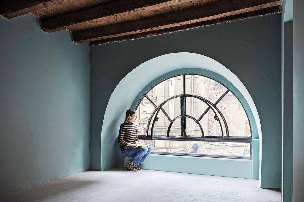 L' appartamento-galleria PalermoUno.