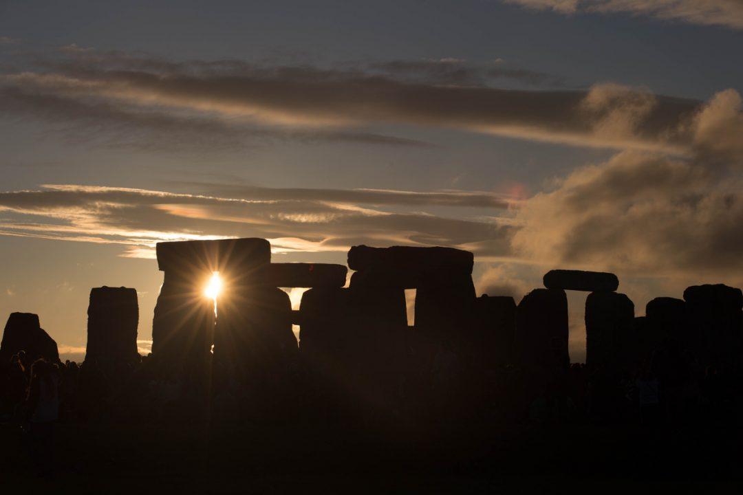 Il solstizio d'inverno a Stonehenge, Regno Unito