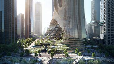 città verticale di Shenzhen