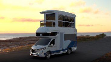 Maxus Life Home V90 Villa Edition il camper a due piani con piscina e terrazza Maxus Life Home V90 Villa Edition