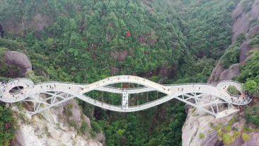 ponte a due piani in Cina le immagini spettacolari