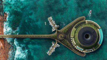Hotel galleggiante in Qatar.