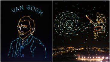Cina 600 droni disegnano Van Gogh