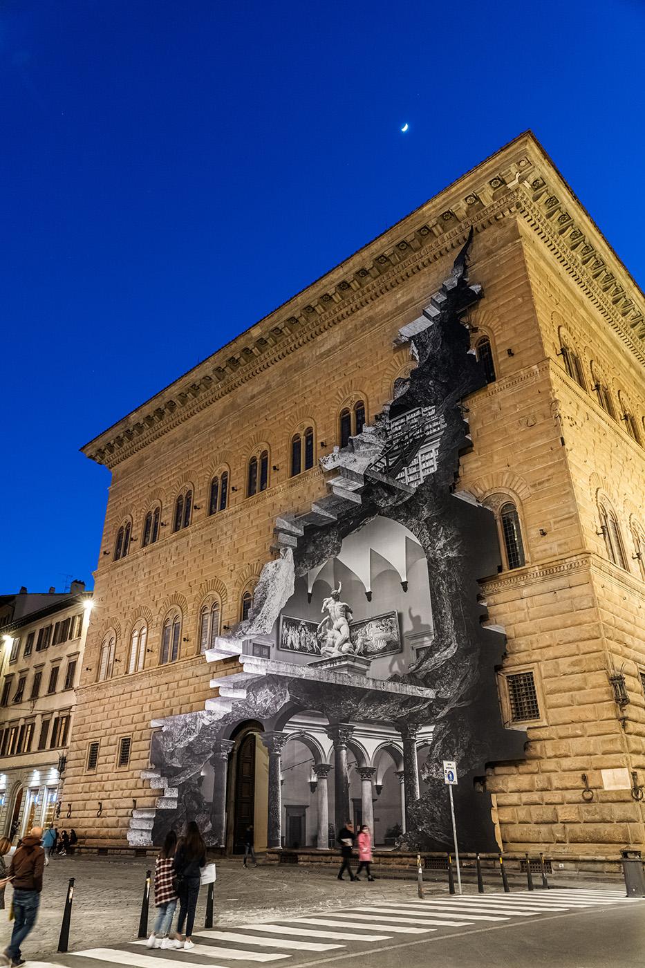 JR La Ferita Palazzo Strozzi Firenze