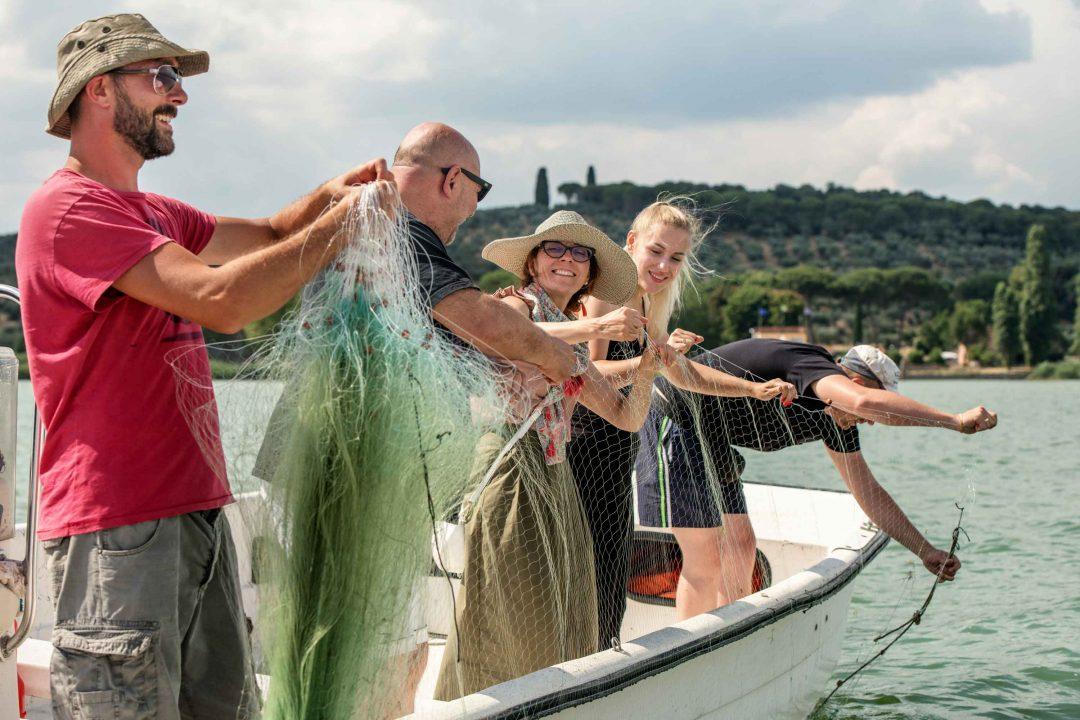 Pesca sul Lago Trasimeno
