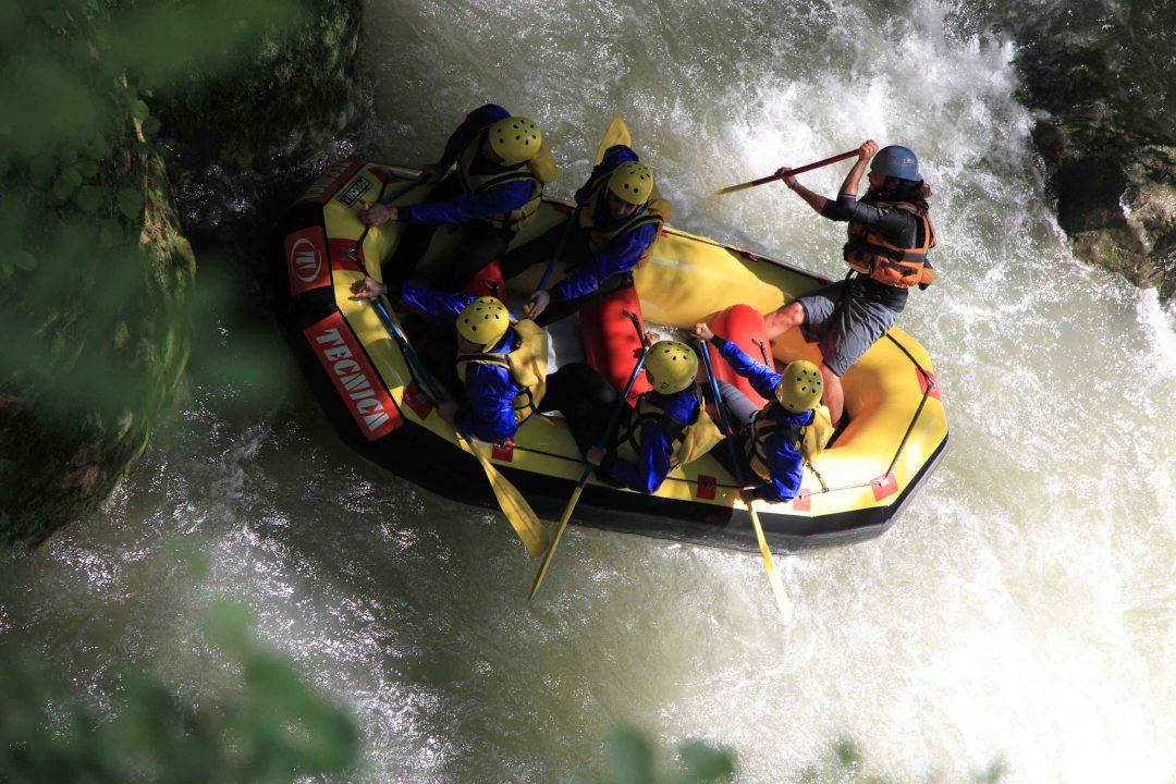 Rafting sul fiume Nera