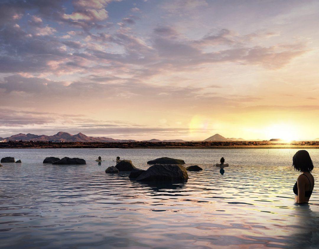 In Islanda ha aperto la Sky Lagoon, la nuova laguna termale (con vista sul vulcano in eruzione)