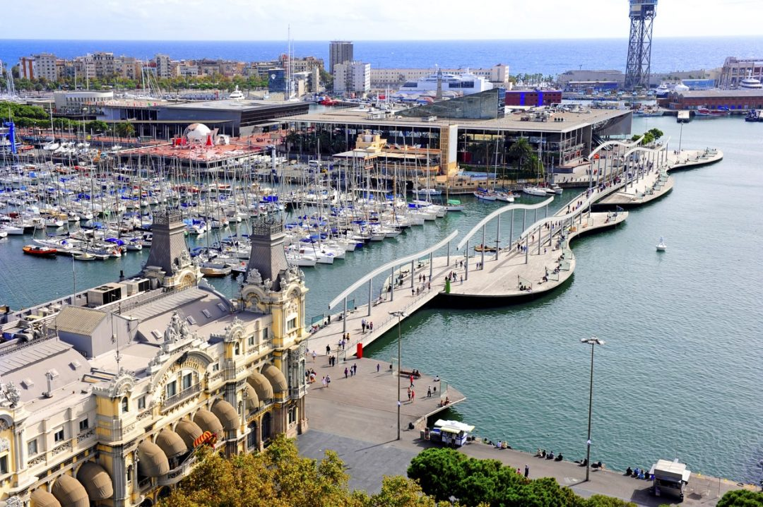 Port Vell a Barcellona, Spagna