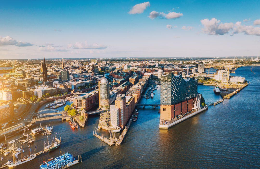 Il porto di Amburgo, Germania