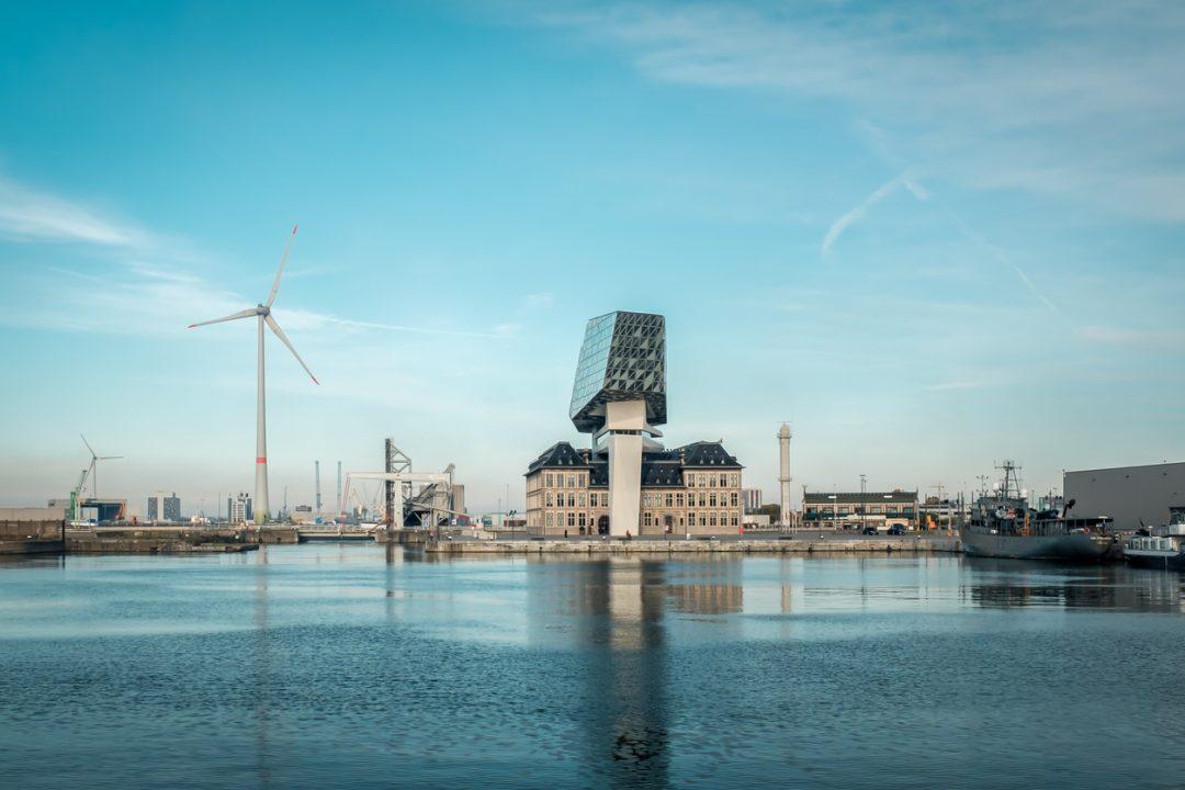 Il porto di Anversa, Belgio
