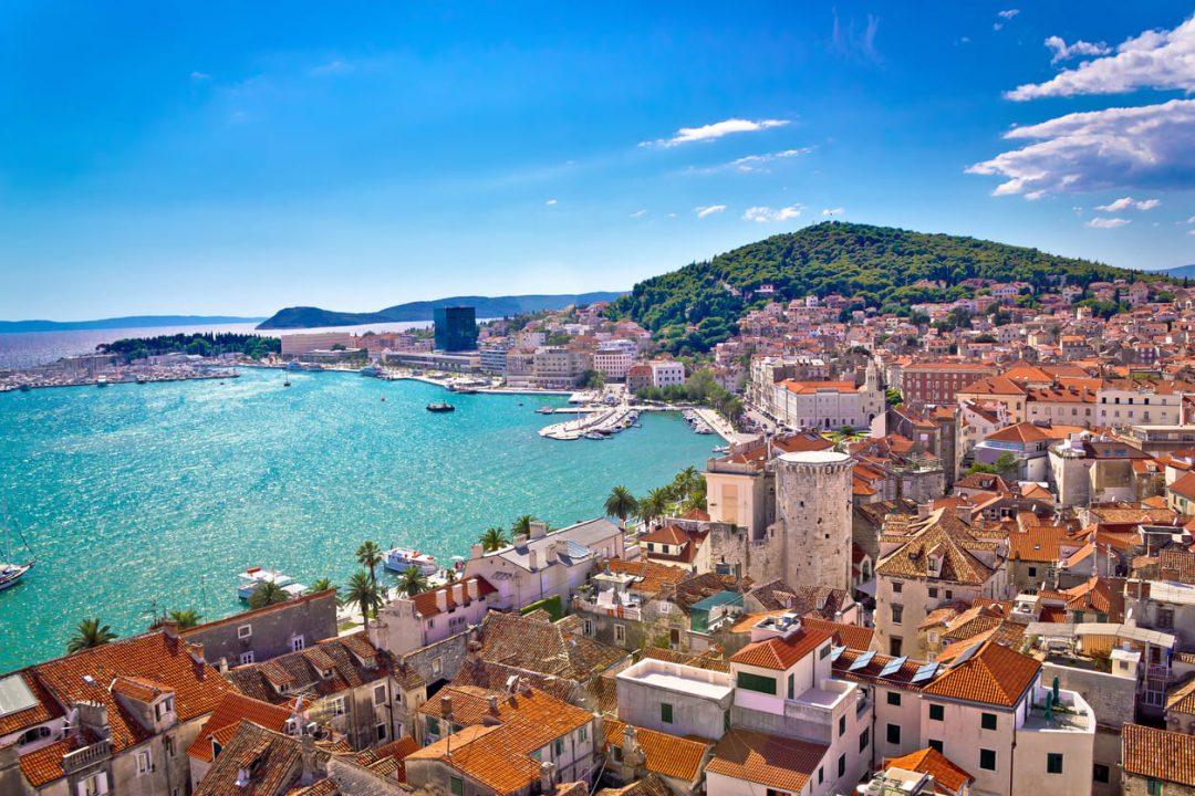 Il porto di Spalato, Croazia