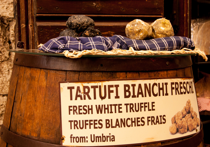 Gubbio: la mostra dei tartufi